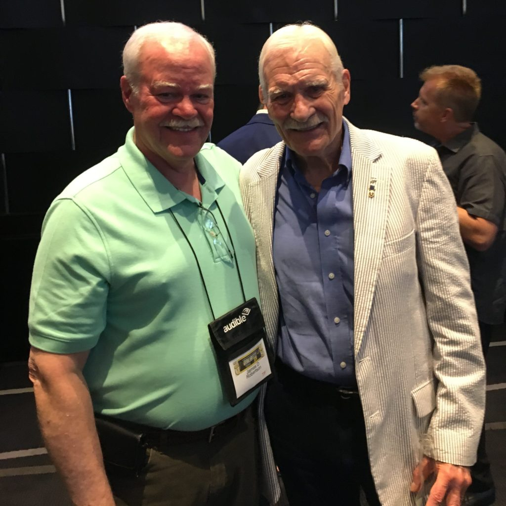 James Robertson and Dale Dye at Thrillerfest 14